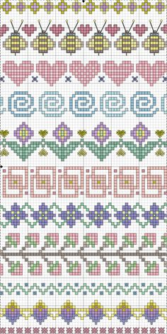 sewing supplies square cross stitch pattern.