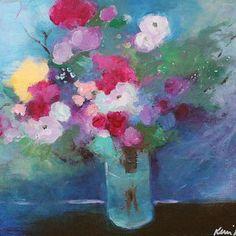 STILL LIFE WHITE FLOWERS BLUE VASE - Google Search