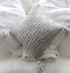 Aran Trellis Cable Cushion/Pillow Hand by TheDesignStudioKnits, £3.50