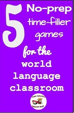 Great games to have in your back pocket when a lesson finishes more quickly than you wanted!