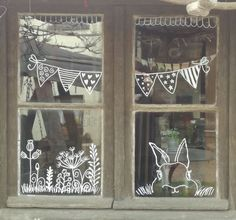 homedecor window Fenster homedecor window Fenster The Importance Of Windows & Doors Chalk Pens, Chalk Markers, Chalk Art, Easter Crafts, Christmas Crafts, Easter Art, Noel Christmas, Window Markers, Easter Drawings
