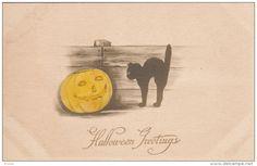 HALLOWEEN : Black Cat & Jack O'Lantern , 00-10s - Delcampe.com