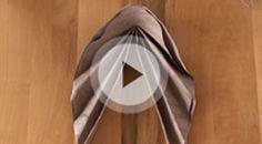 Napkin folding movies from Duni -  Asia