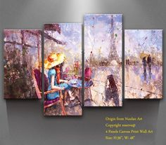 Canvas Wall Art -' Paris Memory' Canvas Prints Modern Landscape Oil Paintings Artworks ,Size:36'x48' , Stretched and Framed Gallery Wrap for Wall Decor and Home Decoration -P1L011 * Don't get left behind, see this great product : Christmas decor