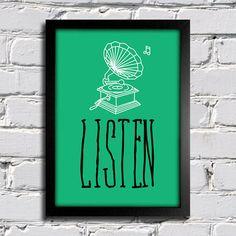 Poster Listen - comprar online