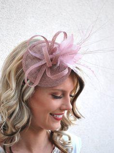 Heather Pink Fascinator, Tea Party Hat, Church Hat, Derby Hat, Fancy Hat, Pink Hat, Tea Party Hat, wedding hat