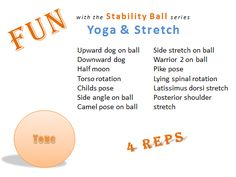 Fun with the Stability ball series Yoga & Stretch