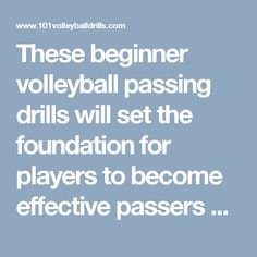 These beginner volleyball passing drills will set the foundation for players to…