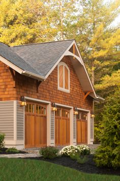 Custom home side view with three car garage. Louden Ridge Saratoga Springs, NY.