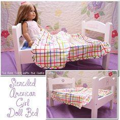 An Elegant American Girl Doll Bed