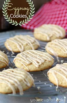 Eggnog Cookies (Scratch and Cake Mix recipes)