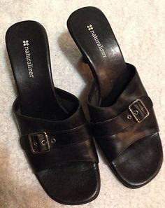 Naturalizer Black Slip In Heels Size 8 M Buckle Front Short Wedge Heel  $18     http://www.ebay.com/itm/Naturalizer-Black-Slip-Heels-Size-8-M-Buckle-Front-Short-Wedge-Heel-/360677664226?pt=US_Women_s_Shoes=item53fa1065e2