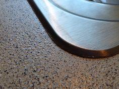 Rust Oleum Stone Accents Pebble Spray Paint On My Kitchen Countertops