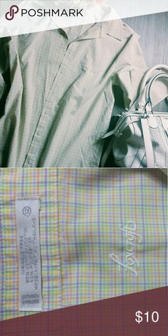 Pastel button up Cute and in great condition! B3 Foxcroft Tops Button Down Shirts