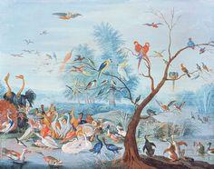 Les papiers peints tendances Papier peint Tropical birds (Au Fil des Couleurs)