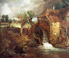 Oil on canvas. Yale Center for British Art, New Haven, USA. Free art print of A Mill at Gillingham in Dorset (Parham's Mill) by John Constable. Frank Stella, Georges Seurat, Georges Braque, Albert Eckhout, The Arnolfini Portrait, John Constable Paintings, Norman Rockwell, English Romantic, Pintura Exterior