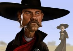 """Tombstone"" illustration, and a very impressive on at that... plus I love this film. Great work by Blake Loosli"