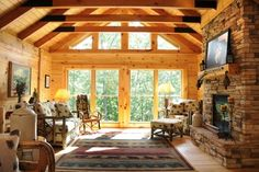 rustic looking living rooms | All Rooms / Living Photos / Living Room something similar, but can the tv be hid.
