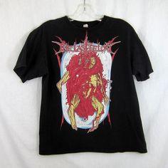 The Last Felony Death Metal T-Shirt Black Size Large Corpse Demon 100% Cotton | eBay