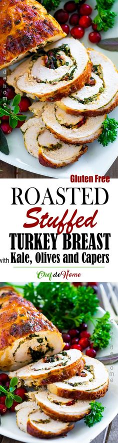 Stuffed Turkey Breast - This Turkey Breast Roast is easy, and flavorful with gluten free Tuscan Kale Stuffing. Stuffed Turkey Breast - This Turkey Breast Roast is easy, and flavorful with gluten free Tuscan Kale Stuffing. Thanksgiving Dinner For Two, Holiday Dinner, Thanksgiving Recipes, Holiday Recipes, Family Holiday, Duck Recipes, Turkey Recipes, Meat Recipes, Turkey Tenderloin