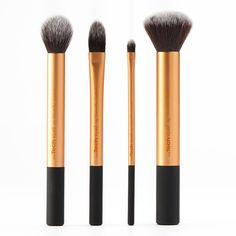 Real Techniques 4-pc. Core Collection Makeup Brush Set () ($18) ❤ liked on Polyvore featuring beauty products, makeup, makeup tools, makeup brushes, beauty, makeup brush, brushes, cosmetics, contour makeup brush and contour brush