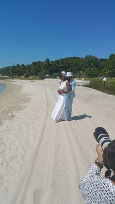 Mr and Mrs G Mashigo #GeeCeeWedding2015 #Mozambique #Beachside