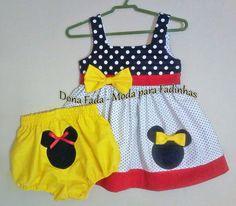 Vestido Minnie - 1 ano  ______________baby - infant - toddler - kids - clothes for girls - - - https://www.facebook.com/dona.fada.moda.para.fadinhas/