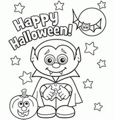 Halloween Coloring pages-- fun and cute!