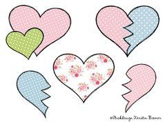 Verschiedene doodle Herz Stickdateien im Set ♥ Hearts Set ♥ hearts doodle appliqué machine embroidery files   #love #liebe