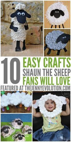 Shaun the Sheep Crafts for Kids | The Jenny Evolution