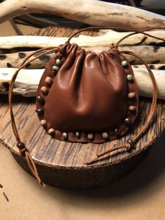 Leather Pouch Bag  Native American Spirit by Shirlbcreationstoo