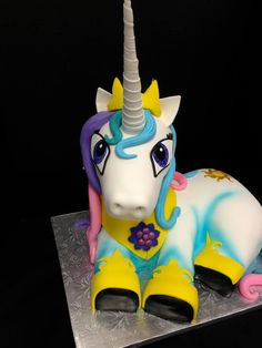 Close-up My Little Pony Cake  Jo's Custom Cakes and Catering