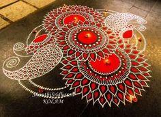 101 Rangoli Designs to Make Sure Your Wedding Is the – Art Drawing Tips Rangoli Designs Latest, Simple Rangoli Designs Images, Rangoli Designs Diwali, Diwali Rangoli, Beautiful Rangoli Designs, Kolam Designs, Indian Rangoli, Mehndi Images, Easy Rangoli