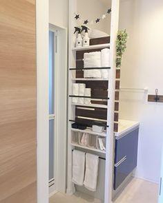 Laundry Room Inspiration, Home Decor Inspiration, My House Plans, Wall Storage, Storage Ideas, Diy Interior, Dream Bathrooms, Diy Home Crafts, Home Decor Accessories