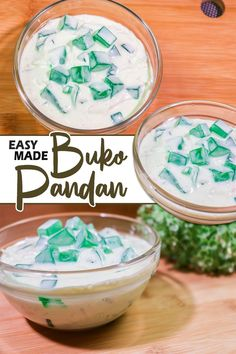 Buko Pandan a Tasty Pinoy Recipe. Famous Filipino Dessert made of Young Coconut, Flavored Pandan Gelatin or Jelly ,Cream and Milk. Optional : You may add Pandan Flavoring and Food Color (Green) #Bukopandan #TastyBukopandan #PinoyRecipe Filipino Fruit Salad, Filipino Desserts, Carbonara Recipe Pinoy, Easy Churros Recipe, Chicken Macaroni Salad, Jelly Cream, Pinoy Recipe, Coffee Jelly, Easy To Make Desserts