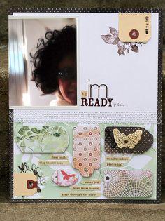 #papercraft #scrapbook #layout. karladudley.com