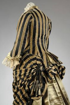 House of Worth, Silk Satin & Cut Velvet Evening Dress. Paris, c. 1884. (View 2)