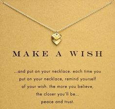 Make A Wish Heart Necklace