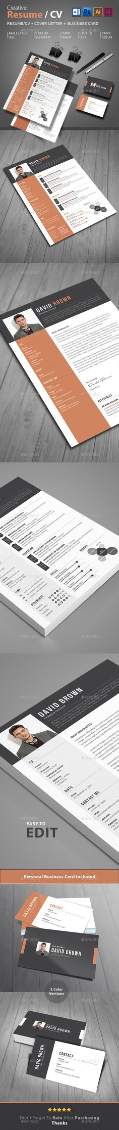 Resume Template PSD, Word Download here http\/\/graphicrivernet - net resume