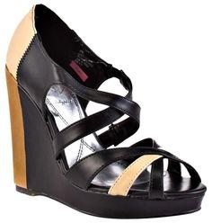 ab76fefa Baby Phat Black and Tan Juno Wedges Size US 9 Regular (M, B) 70% off retail