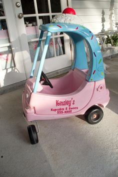 I have to do this now!! Cozy Coupe Makeover