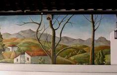 """restitution de la fresque du """"théâtre d'hiver""""  Municipalité d'Arcangues  (d'après R. Arrué)"""