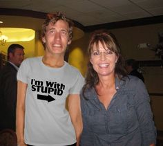 Sarah Palin should look before she agrees to a photo. This guy is my new hero