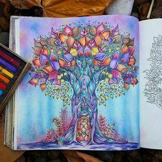 Um encanto de colorido! @Regrann from @himariemonici - #enchantedforest #enchantedforestcoloringbook #adultcoloringbook #coloring #johannabasford #florestaencantada #art #colorindo #livrosdecolorir #artecomoterapia #arttherapie #coloriage #colorir #colorido #passatempo #Regrann