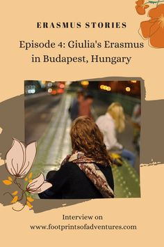 """""""I think the biggest gift of my Erasmus exchange was that it made me realise who I am."""" With these words Giulia, our fourth guest of Erasmus Stories, summarises her experience in Budapest (Hungary). In this episode, Giulia describes her Budapest, in all its splendour and its contradictions. Budapest Hungary, Words, Grande, Gift, Gifts, Horse"""