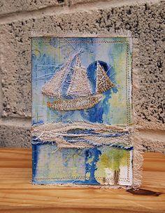 Fabrics and Mixed Media Card
