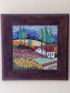 Landscape Cape dutch house mosaic art