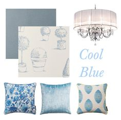 """""""Cool blues"""" by serendipityhome on Polyvore featuring interior, interiors, interior design, home, home decor and interior decorating"""
