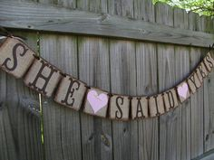 She Said Yes BannerBurlap GarlandCouples Shower by BannerBlitz