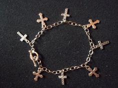 Cross Charm Bracelet by CellDara on Etsy, $15.00